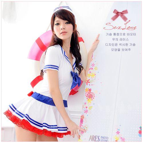 航向愛情-海軍俏麗蓬裙水手服(3件式)