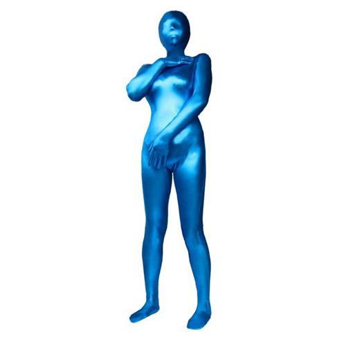 全包式塗膠緊身衣-L號(藍)
