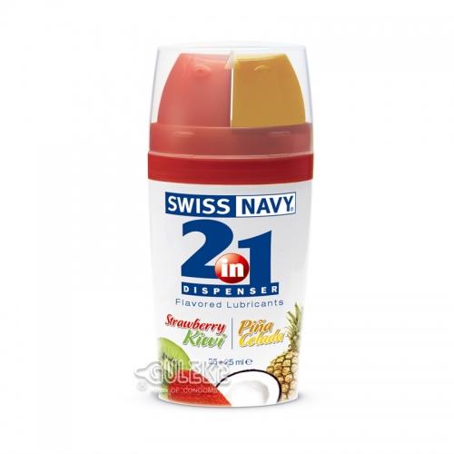 Swiss Navy 2in1 二合一甜蜜果味潤滑液25ml+25ml