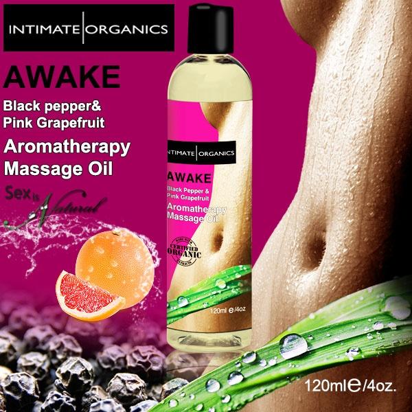 加拿大Intimate*AWAKE薰香按摩油-黑胡椒 & 葡萄柚(120ml)