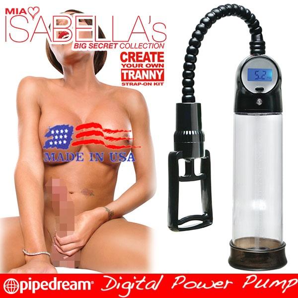 美國PIPEDREAM*MIA ISABELLA系列-美國知名雙性女優-伊莎貝拉代言-液晶瑩幕壓力顯示真空助勃器