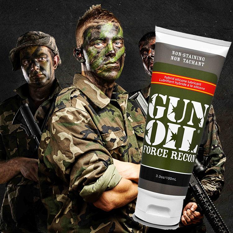 美國GUN-OIL*Force Recon 半水半矽潤滑液 3.3oz(100ml)