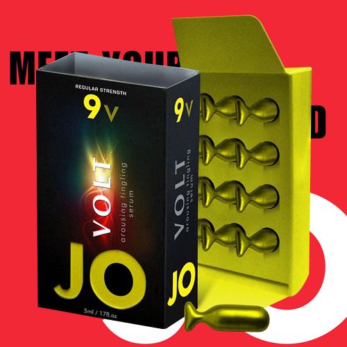 美國JO*9v Volt 陰蒂刺激凝膠(中度配方)12粒-隨身包