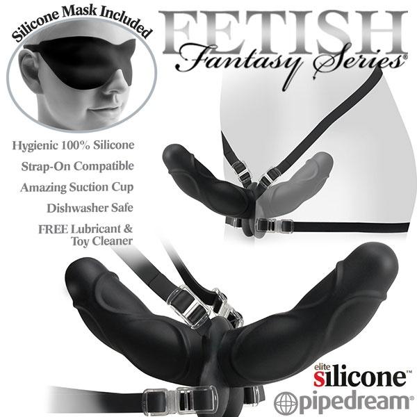 :美國PIPEDREAM*Fetish Fantasy Elite 精英系列-女同志專用雙爽型穿戴式按摩棒(安全素材)