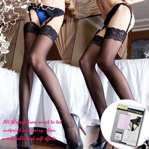 蕾絲性感大腿絲襪-寬版更性感 (粉色)