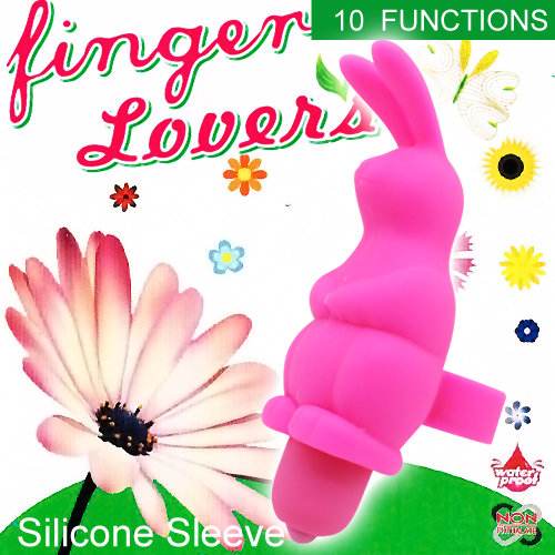 :Finger Lover 10段變頻防水小兔造型手指情人