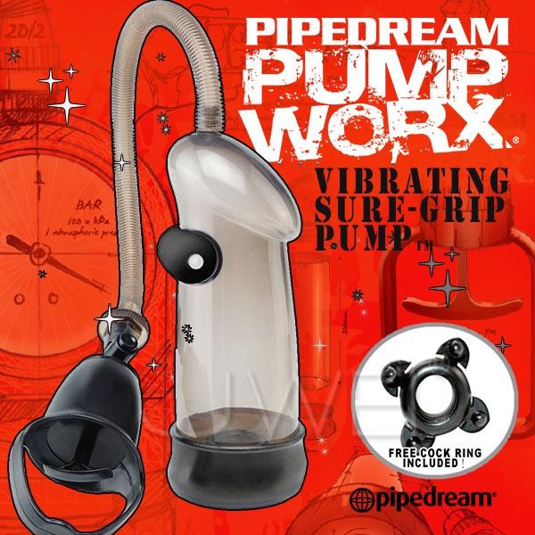 美國PIPEDREAM*PUMP WORX系列-無線激震式真空助勃器-Vibrating Sure-Grip Pump