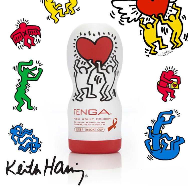 :日本TENGA x 美國Keith Haring 塗鴉海外限定版DEEP THROAT CUP