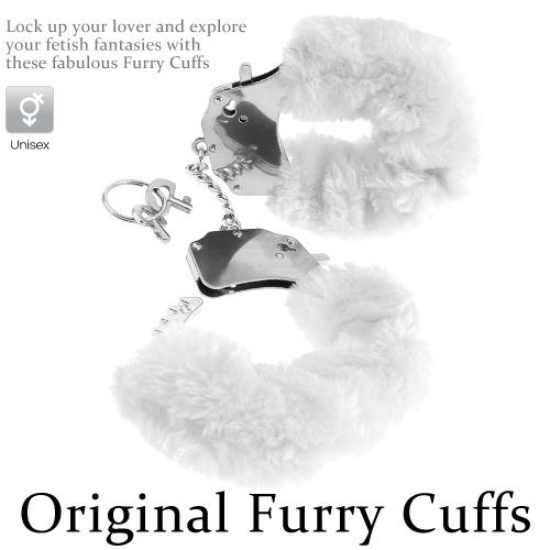 :Original Furry Cuffs金屬絨毛手銬-粉白