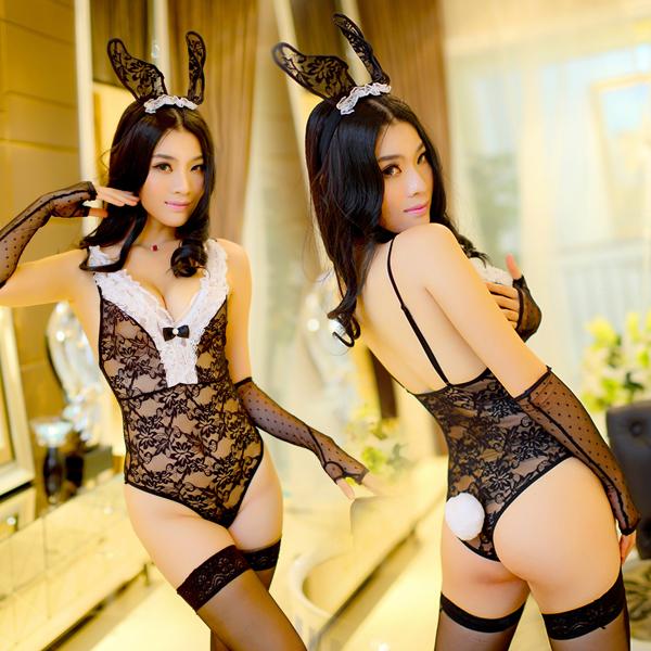 賭城風雲!蕾絲兔女郎 性感情趣連身衣