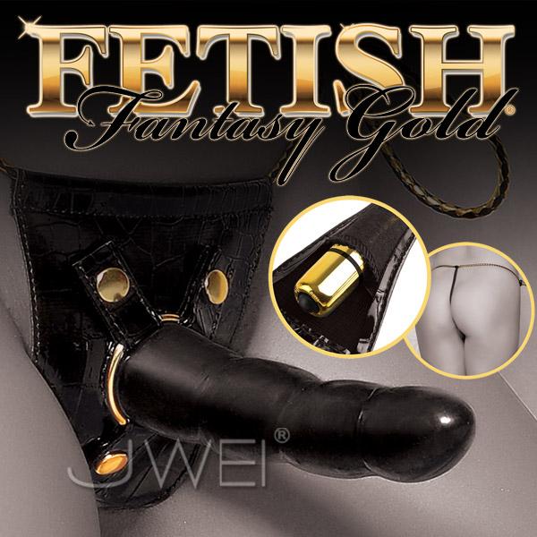 美國PIPEDREAM*Fetish Fantasy Gold奢華黃金系列-雙爽型女用穿戴按摩棒