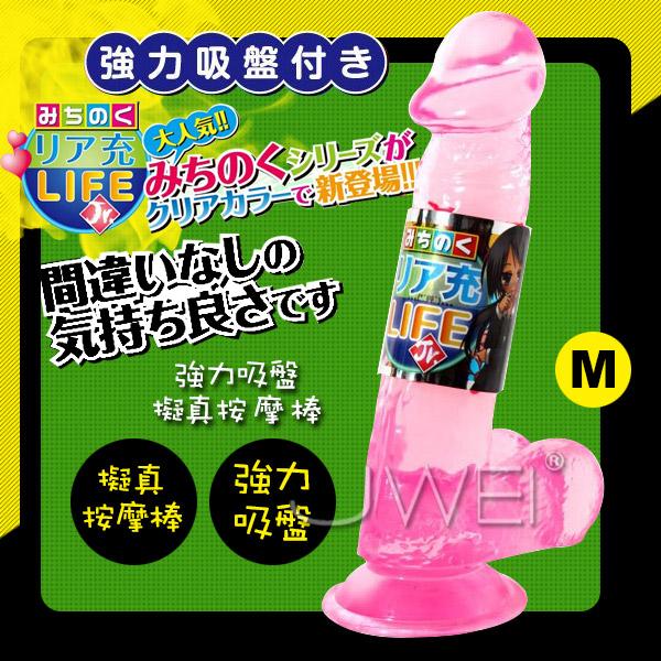 日本NPG*LIFE Jr. 強力吸盤逼真按摩棒-M(粉)