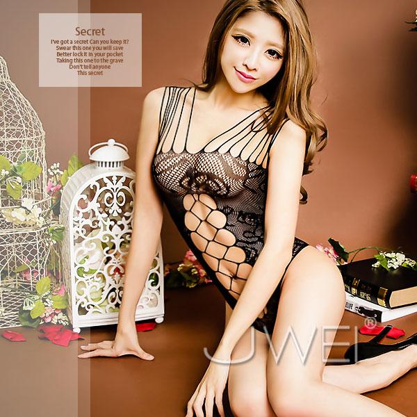 :銷魂美聲-交織網狀連身貓裝
