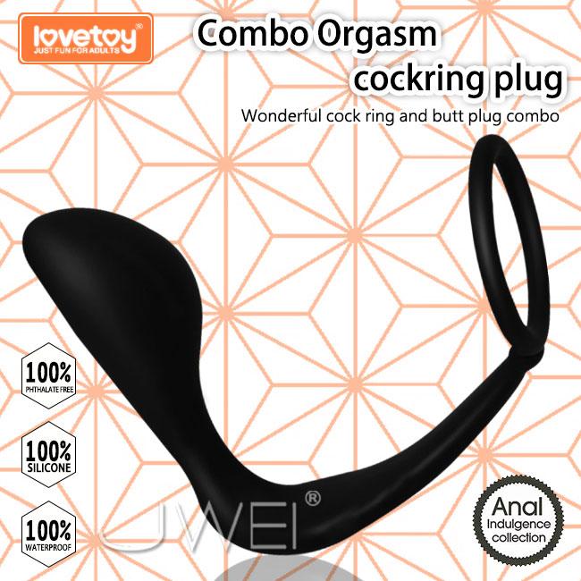 Lovetoy.Combo Orgasm cockring plug 鎖精環+指型肛塞