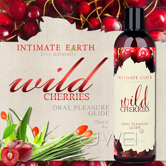 美國Intimate-Earth.Wild Cherries果味口愛潤滑液-櫻桃 (120ml)