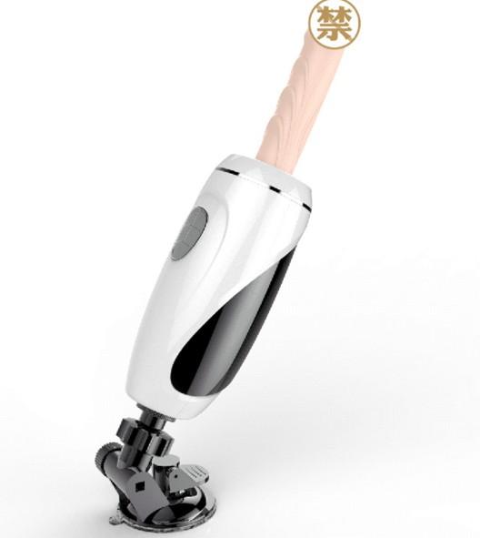 硬朗型男3代.全自動快速抽插炮機 伸縮按摩潮吹棒(標準版)白色