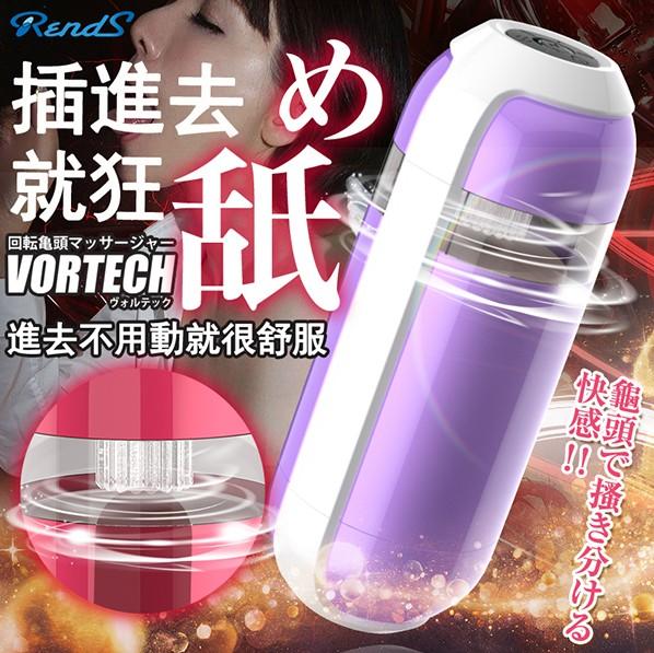 日本Rends 龜太郎 強力舔吮6X3段變頻回--頭 附3種舌套(激爽型)薰衣紫