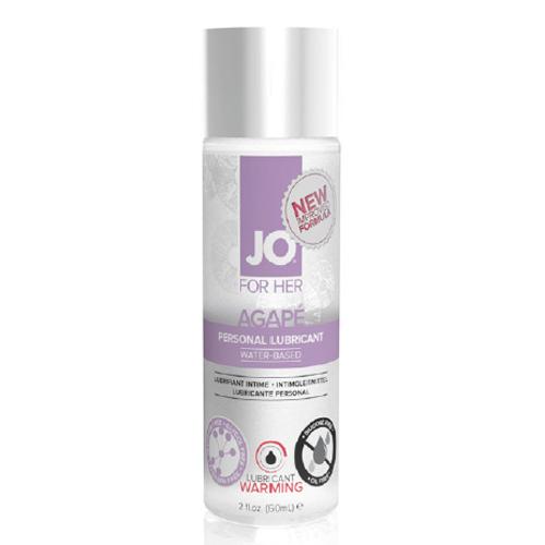:美國JO*JO AGAPE- WARMING - LUBRICANT (WATER-BASED) 2 floz - 60 mL.抗過敏潤滑液-熱感型