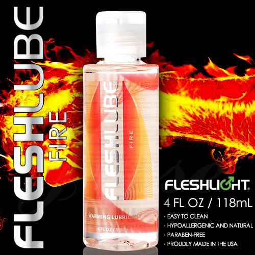 :美國Fleshlight-Fleshlube Fire 水性熱感潤滑液-4oZ-118ML