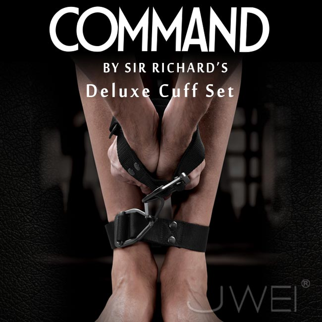 美國原裝進口PIPEDREAM.COMMAND Sir Richards命令系列 Deluxe Cuff Set 頂級SM豪華手腳束縛套組